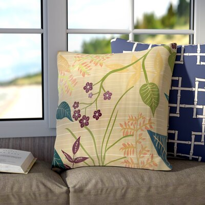 Connelly Botanical Throw Pillow Color: Green, Size: 20 H x 20 W