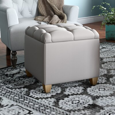 Eau Claire Ottoman Upholstery: Taupe