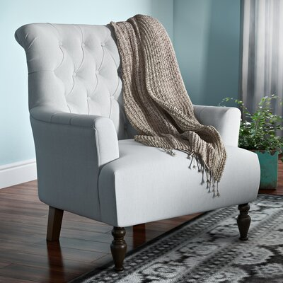 Verona Tufted Fabric Armchair Upholstery: Light Gray