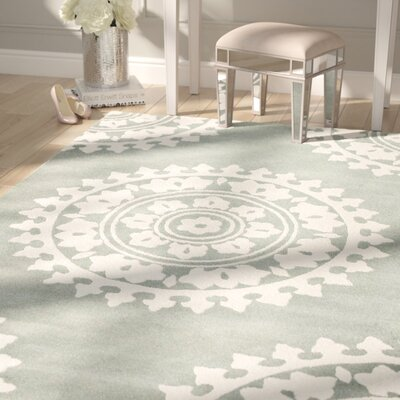 Hawley Hand-Woven Gray Area Rug Rug Size: Square 6