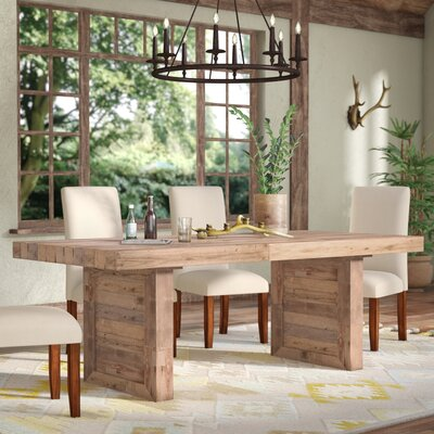 Needham Dining Table Color: Natural Pine Wood