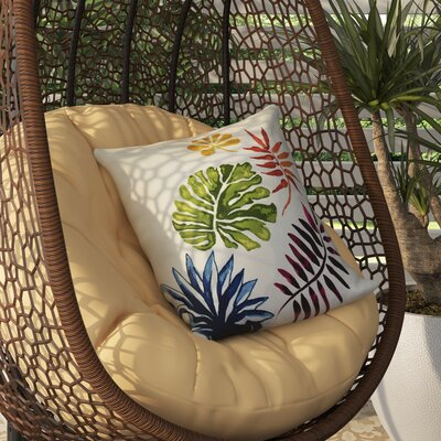 Costigan Brambles Floral Print Outdoor Throw Pillow Size: 20 H x 20 W x 3 D