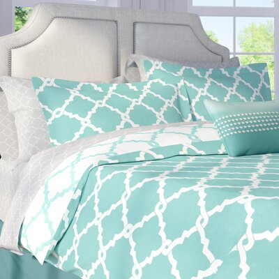 Colt Reversible Comforter Set Size: California King, Color: Aqua