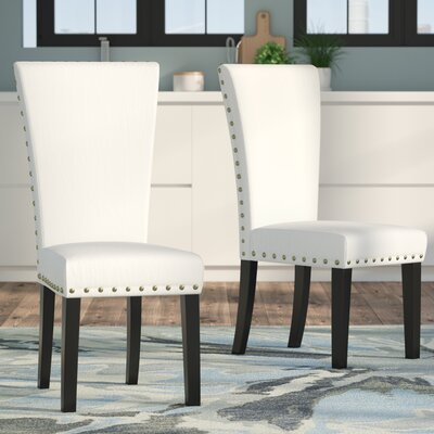 Zoey Upholstered Side Chair Upholstery: Ivory Linen