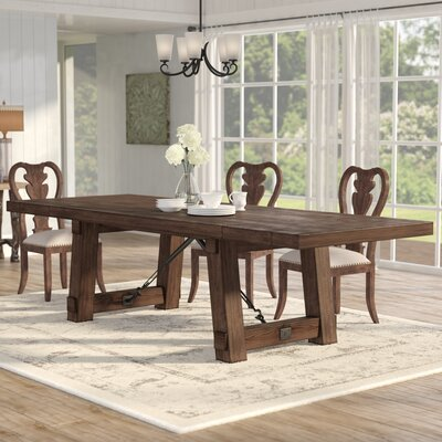 Parfondeval Extendable Dining Table Finish: Rustic Java