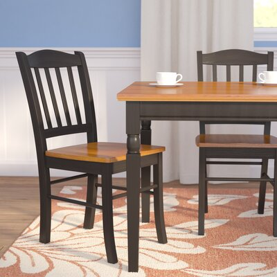 Windham Dining Chairs Finish: Black and Oak