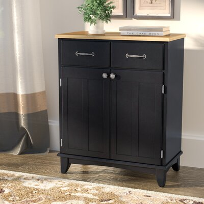 Ferris 2 Drawer Server Color: Black