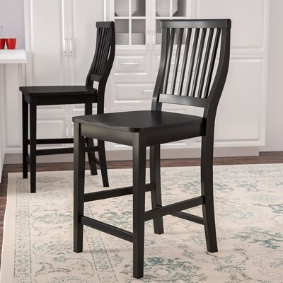Ferryhill 24 Bar Stool Finish: Ebony