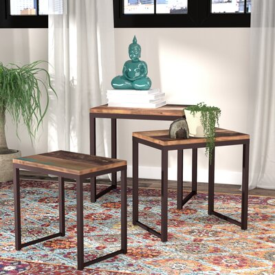 Chanler 3 Piece Nesting Tables Color: Reclaimed