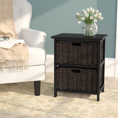 Clarissa 2 Drawers Storage Rack with Foldable