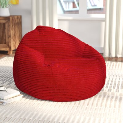 Medium Polystyrene Bean Bag Chair Upholstery: Red
