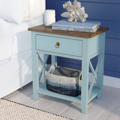Landau 1 Drawer Nightstand Color: Aqua