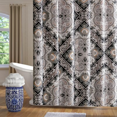 Barris Shower Curtain Color: Black