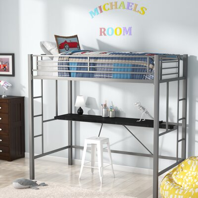 Myrtle Twin Loft Bed with Desk VVRO5160 32771756