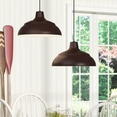 Stetson 1-Light Pendant Size: 8.25 H x 14 W, Finish: Architectural Bronze