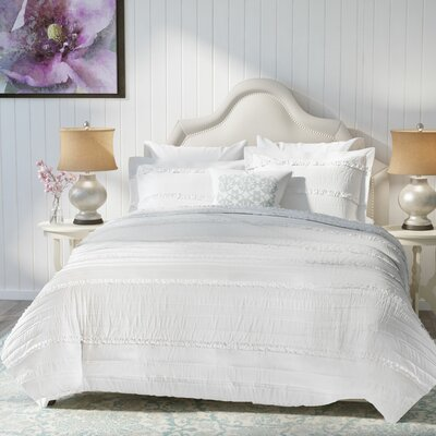Bridget Duvet Set Size: Full/Queen, Color: White