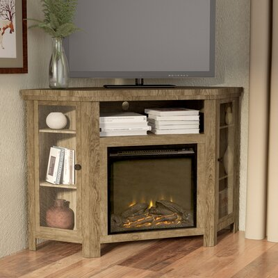 Rena Corner 48 TV Stand with Fireplace Finish: Barnwood