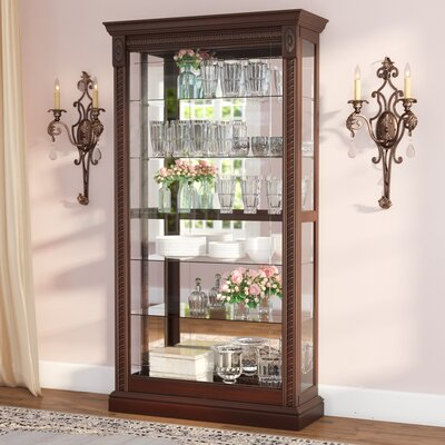 Dunstaffnage Lighted Curio Cabinet Color: Medallion Cherry