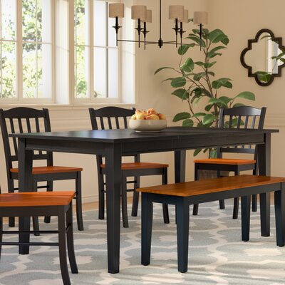 Ferryhill Extendable Dining Table Finish: Ebony