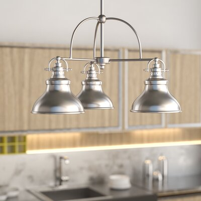Eden 3-Light Steel Kitchen Island Pendant Finish: Brushed Nickel