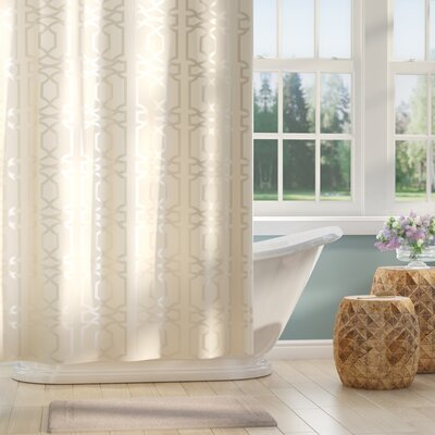 Barbro Shower Curtain Color: Ivory