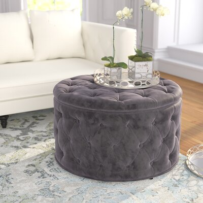 Bouchard Cocktail Ottoman Upholstery: Gray