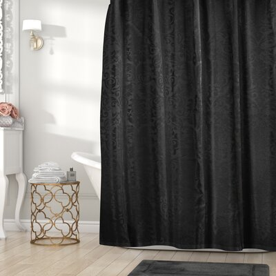 Nunzio Jacquard Shower Curtain Color: Black