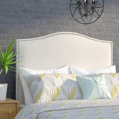Zoe Upholstered Panel Headboard Upholstery: Linen, Size: King