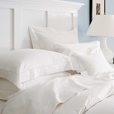 Sereno Pillow Case Color: White, Size: Standard