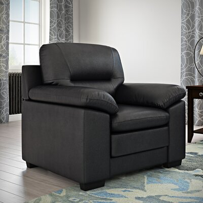 Brentry Club Chair Upholstery: Black