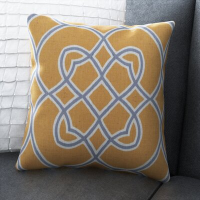 Paxtonville Throw Pillow Cover Size: 18 H x 18 W x 0.25 D, Color: YellowGray