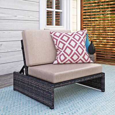 Varick Gallery Hamza Outdoor Recliner Patio Chair with Cushions