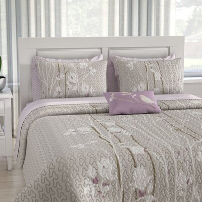 Olney Coverlet Set Size: Queen, Color: Gray