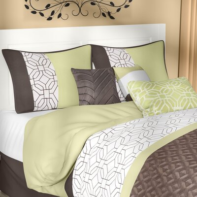 Taunton 7 Piece Comforter Set Size: King