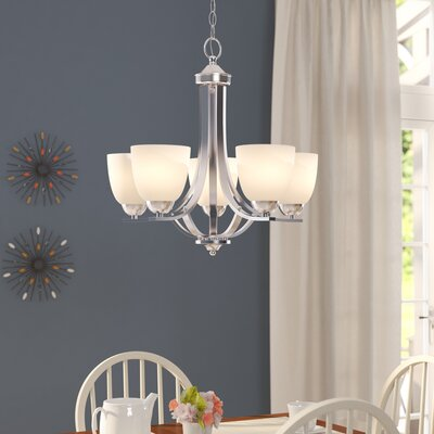 Hayden 5-Light Candle-Style Chandelier Finish: Satin Nickel