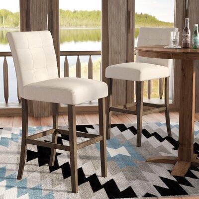 Dejardins 30 Bar Stool (Set of 2) Upholstery: Beige