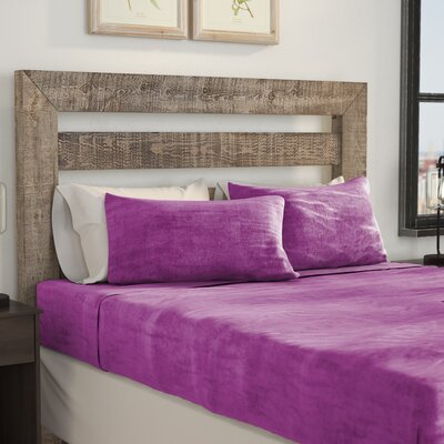 Balderston Super Soft Plush Sheet Set Size: King, Color: Orchid