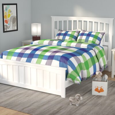 Rhonda Panel Bed Finish: White, Size: Queen