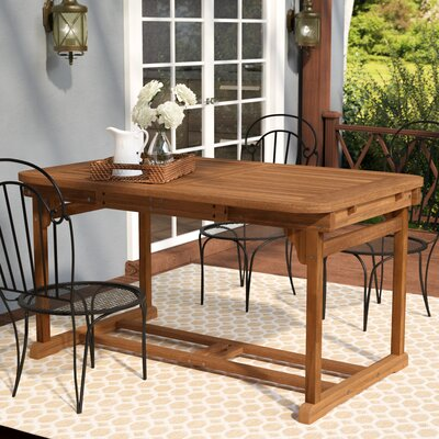 Widmer 6-Piece Acacia Patio Dining Set with Cushions