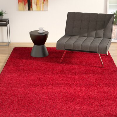 Rowen Red Area Rug Rug Size: 67 x 96