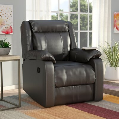 Roudebush Manual Rocker Recliner Upholstery: Black