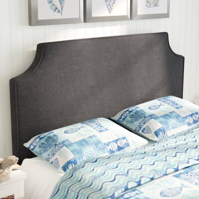 Rossan Upholstered Panel Headboard Size: Queen, Upholstery: Charcoal Gray