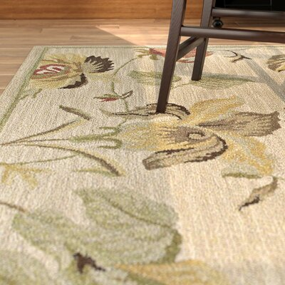 Blakeslee Linen Floral Rug Rug Size: Rectangle 8 x 11