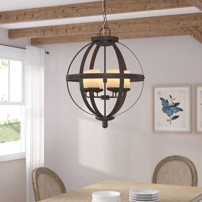 Tuscany 6-Light Shaded Chandelier Bulb Type: 100W A19 Medium, Shade Color: Cafe Tint