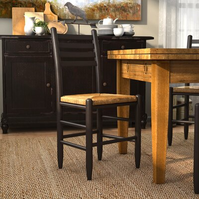 Blue Ridge Ladderback Solid Wood Dining Chair Color: Black