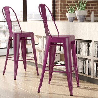Cercis 30 Bar Stool Finish: Glossy Purple