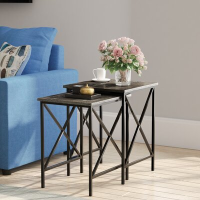 Abbottsmoor 2 Piece Nesting Tables Finish: Weathered Gray