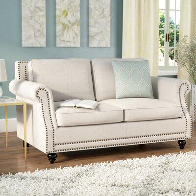 Lore Loveseat Upholstery: Beige