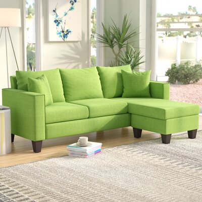Janna Reversible Sectional Upholstery: Green