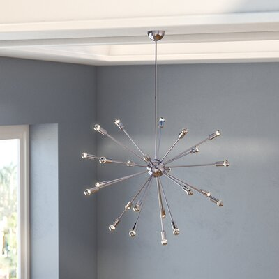 Helmetta 24-Light Sputnik Chandelier Finish: Silver